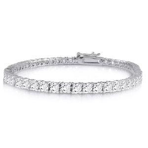 Jewelry - 14k White Gold Finish 925 Sterling Silver Bracelet